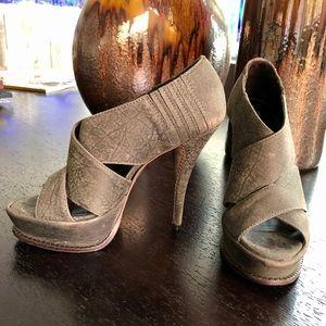 Elizabeth and James Milla Leather Platform Heels